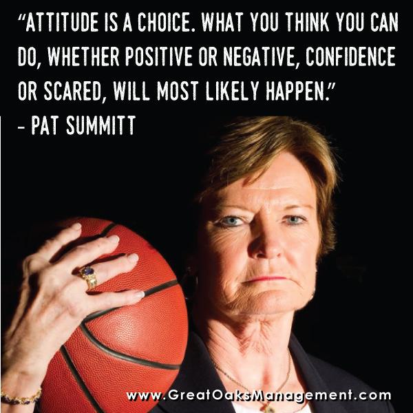 Pat Summitt Quotes: Great Oaks Management